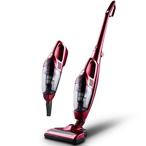 COSTWAY Vacuum Cleaner, Cordless 2 in 1 Vacuum Cleaners, [Energy-saving] [Upgrade] Rechargeable Bagless Handheld Vac | Upright Stick Cleaner - 2 Speeds Selected and 2 Charging Modes