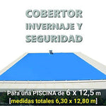 Cosy Winter, Tarpaulin, cover, Canopy,... For Cover A Pool Of 6.0 x 12.5 m. Measures Total of 8: 6.30 x 12,80 M.