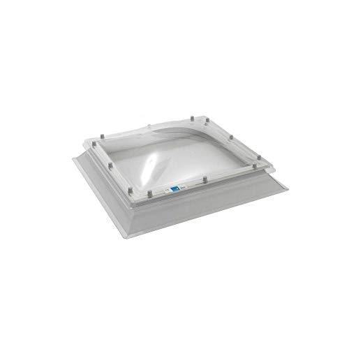 Coxdome Rooflight for Flat Roof - Skylight | Polycarbonate Roof Light - Triple Glazed Dome (1000x1000mm, Diffused)