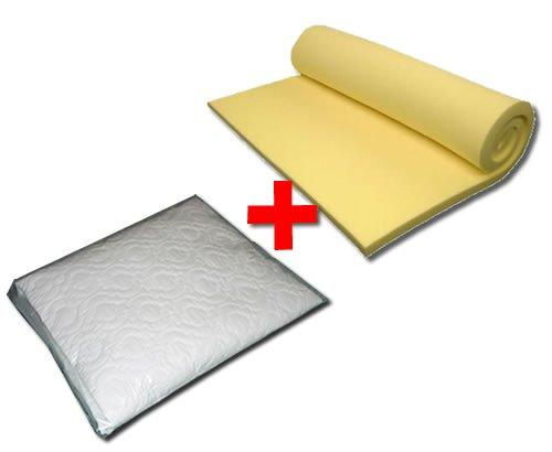 Creating Comfort Memory Foam Topper 3000 Overlay 75mm (3in) & Mattress Protector - Double 4'6