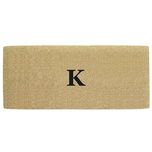 Creative Accents Heavy Duty Coco Doormat with No Border, 24 by 57-Inch, Monogrammed K
