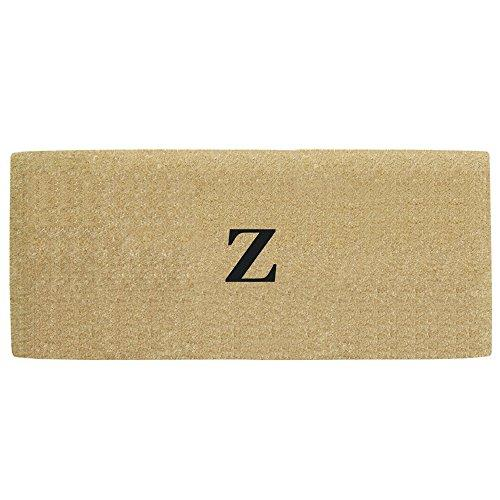 Creative Accents Heavy Duty Coco Doormat with No Border, 24 by 57-Inch, Monogrammed Z