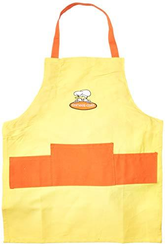 Curious Chef Child Chef Apron, Yellow and Orange