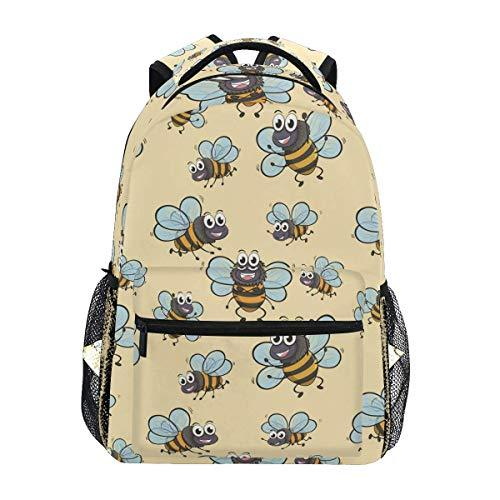 CVDGSAD Cartoon Cute Bee Bookbag School Student Backpack for Travel Teen Girls Boys Kid