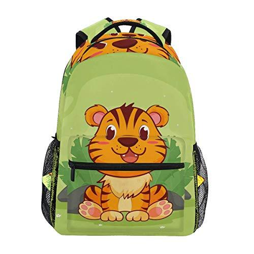 CVDGSAD Cute Kawaii Tiger Bookbag School Student Backpack for Travel Teen Girls Boys Kid