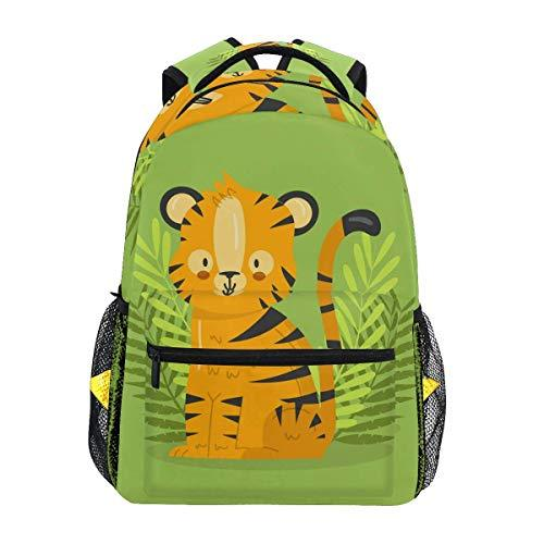 CVDGSAD Forest Kawaii Tiger Bookbag School Student Backpack for Travel Teen Girls Boys Kid