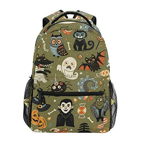 CVDGSAD Ghost Bat Emotion Bookbag School Student Backpack for Travel Teen Girls Boys Kid