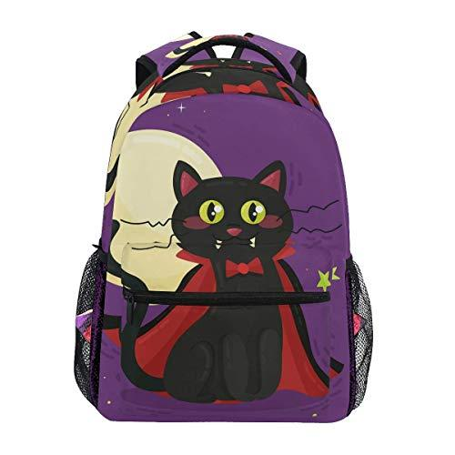 CVDGSAD Hear Cat Night Bookbag School Student Backpack for Travel Teen Girls Boys Kid
