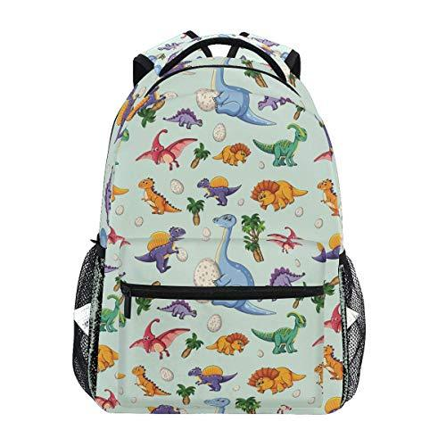 CVDGSAD Kawaii Dinosaur Egg Bookbag School Student Backpack for Travel Teen Girls Boys Kid