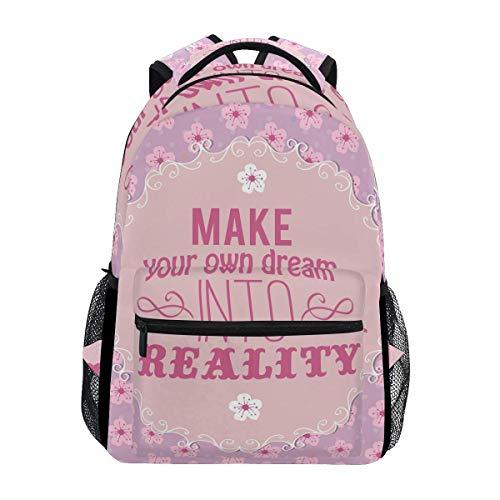 CVDGSAD Peach Blossom Daisy Bookbag School Student Backpack for Travel Teen Girls Boys Kid