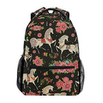 CVDGSAD Princess Daisy Horse Bookbag School Student Backpack for Travel Teen Girls Boys Kid