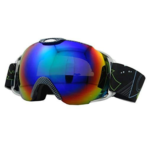 Cvthfyk ee Ski Snowboard Goggles UV Protection Anti-Fog Snow Goggles For Men Women Youth Helmet Compatible (Color : 01)