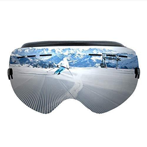 Cvthfyk ee Ski Snowboard Snow Goggles For Men Women Youth Anti-Fog UV Protection Helmet Compatible (Color : 02)