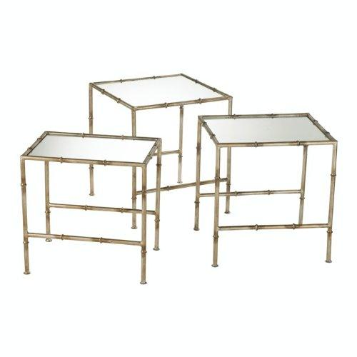 Cyan Design Bamboo Nesting Tables, Antique Bronze