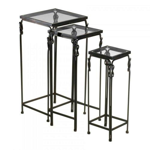 Cyan Design Dupont Nesting Tables, Bronze Rustic Iron