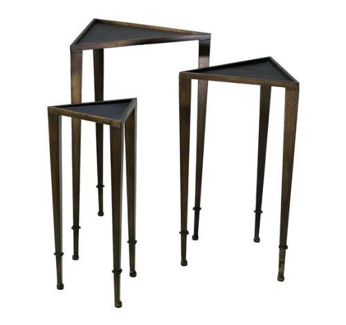 Cyan Design Triangle Nesting Tables, Brown