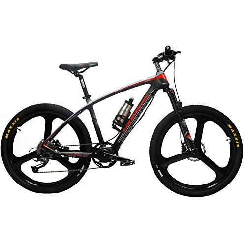 Cyrusher S600 Carbon Fiber Mountain Ebike 36V 250W Electric Bicycle 27 Speeds Hydraulic Disc Brakes Mens Bike with Lithium Battery