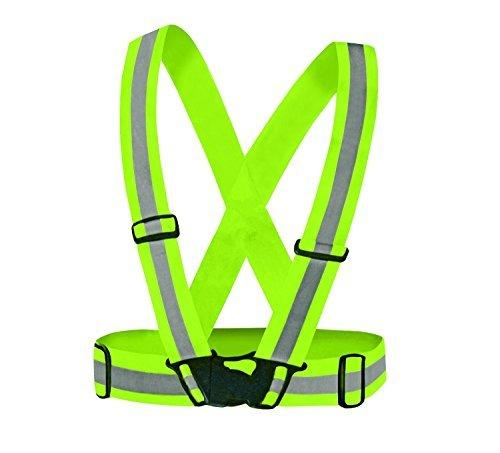 D-CLICK TM High Quality Reflective Vest (2 Pack) for High Visibility 24/7 (4X Free arm/leg bands (Reflective Vest-Green-2X, Regular)