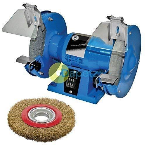 Dapetz ® 150mm Bench Grinder 230V 150W Motor Polisher Grinding + Wire Wheel