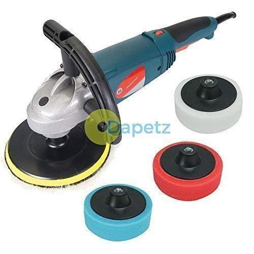 Dapetz ® Sander Car Body Polisher 180mm 1500W Variable Speed 3 Polishing Sponges