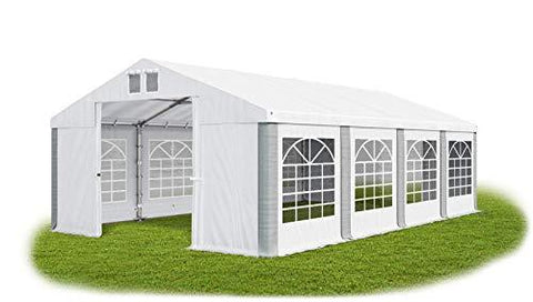 Das Company Marquee 4x8m fireproof waterproof white-grey Heavy-Duty PVC 620g/m² Tarpaulin All Seasons Gazebo Winter FR