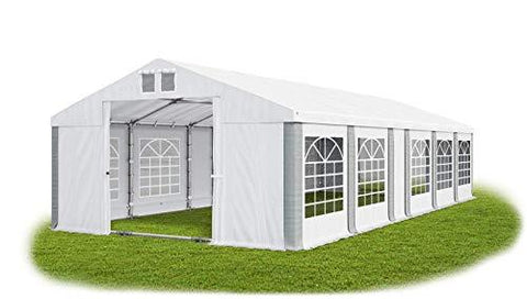 Das Company Marquee 5x11m waterproof white-grey with roof and floor frame modular Tent Heavy-Duty PVC 580g/m² Tarpaulin Gazebo Summer Plus MS/SD