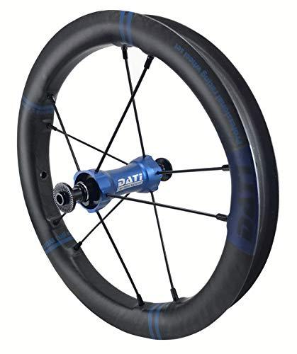 DATI XR-LINE Japan Limited edition Push Kids Balance Bike Wheels Carbon Rim12 With CeramicSpeed bearing (Blue, Strider :95 * 8MM)