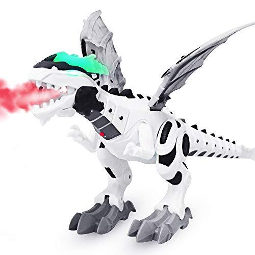 DAXIN Electronic Robot Dinosaur Toy - Walking Dinosaur Toys for Toddler Kids Boys Girls - Large Interactive Toy Dinosaurs Gifts with Sound, Light up, Spitfire, Shake Tail and Wings