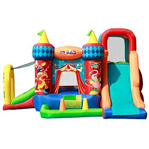 Daxiong Children's Inflatable Castle Indoor And Outdoor Children Jumping Trampoline Small Slide Inflatable Trampoline Home Playground,360x300x210cm