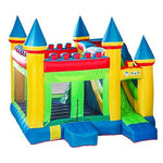 Daxiong Small Children's Inflatable Castle Naughty Fort Outdoor Home Playground Trampoline Castle Dr. Dolphin Big Slide Trampoline