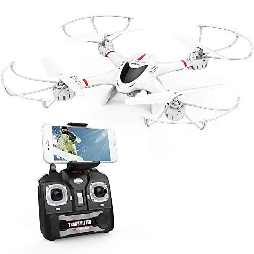 DBPOWER X400W WIFI FPV Drone With Camera Live Video Headless Mode Quadcopter Stable Easy Control for Beginners and Practice Compatible with 3D VR Headset