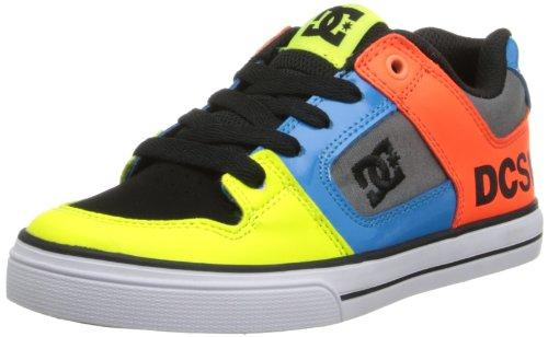 DC Boys'' Pure B Trainers Neon Yellow/Ocean 6 UK