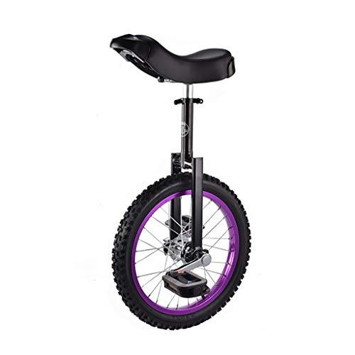 DC les Unicycles Wheelbarrow, 16 inch children's adult sports unicycle, acrobatics, single fitness balance bike (4 color options) (color : A)