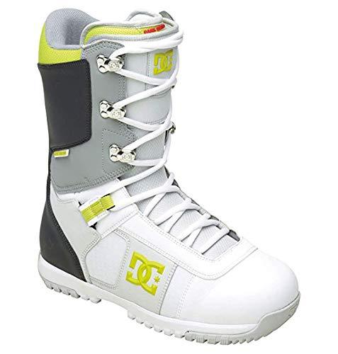 DC Men's Super Park 12 Performance Snowboard Boot,White/Grey/Yellow,9.5 M US