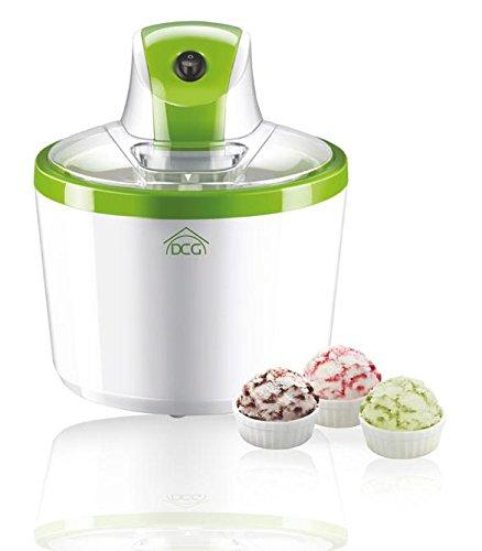 Dcg Eltronic ic4988 Machine Ice Cream Maker – Ice Cream Maker (Green, Transparent, Ice Cream, Sorbet, Yoghurt)