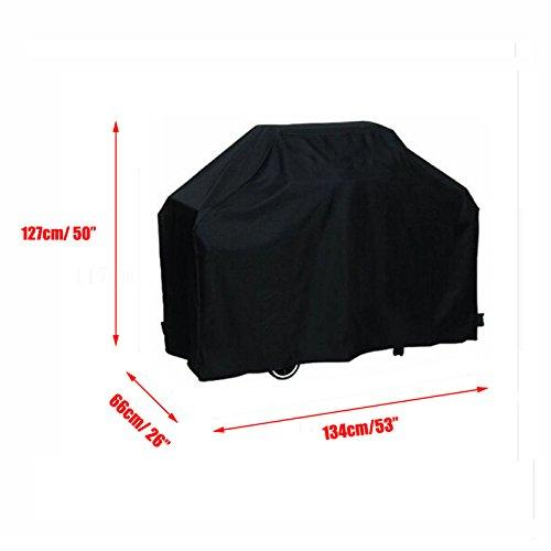 dDanke Black Barbecue BBQ Gas Grill Cover Heavy Duty Waterproof Outdoor Barbecue Weatherproof Snowproof Protection 134x127x66cm