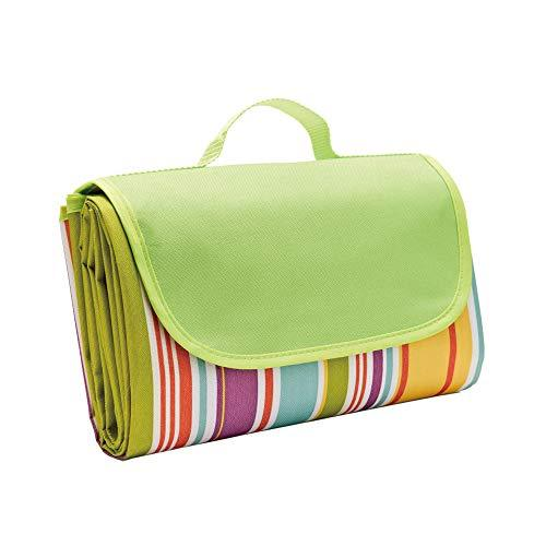 DDDD store Foldable Picnic Blanket Large 145x200cm Fleece Picnic Blanket with Waterproof Backing - Lightweight Compact Picnic Travel Rug - Baby Crawling or Beach Travel Festival Camping