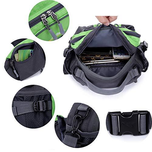 DDLONY Oxford Waist Bag Running Bag Hydration Pack Waterproof Fanny Pack  Cashier's Box Mobile Phone Organizer Cycling And Dog Walking Man Woman  Holder