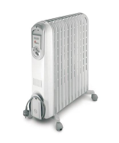De'Longhi VV551225 Vento Oil Filled Radiator - 2.5 Kilowatt,(very light grey)