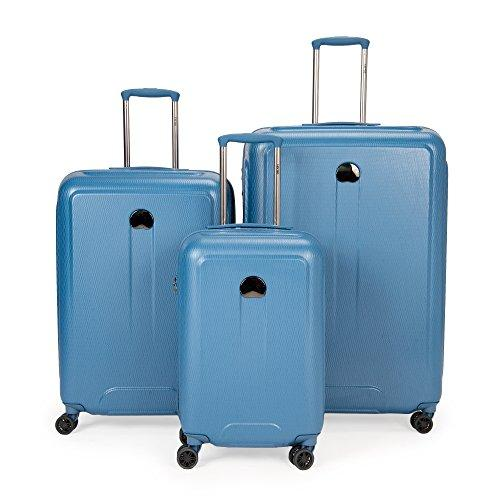 Delsey Luggage Embleme 3 Piece Polycarbonate Lug, Blue