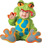 Deluxe Baby Boys Girls Green Little Frog Animal in Character Halloween Fancy Dress Costume Outfit (12-18 Months)