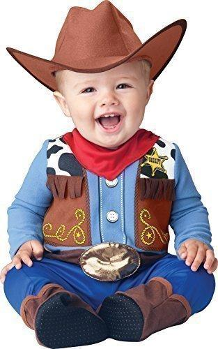 Deluxe Baby Boys Wee Wrangler Cowboy Wild West Book Day Halloween In Character Fancy Dress Costume Outfit (12-18 months)