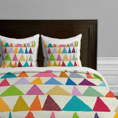 DENY Designs Nick Nelson Analogous Shapes In Bloom Duvet Cover, Queen