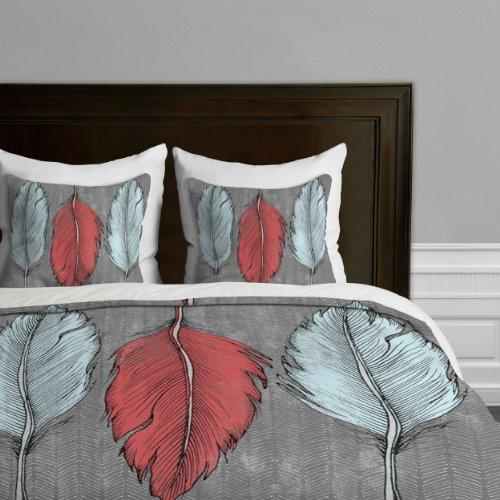 DENY Designs Wesley Bird Feathered Duvet Cover, King