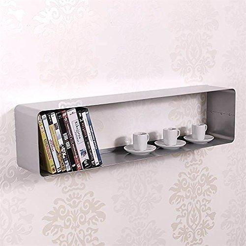 DESIGN LOUNGE DVD & BLU-RAY SHELF 70s retro metal decoration rack wall storage from XTRADEFACTORY silver
