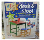 Desk and Stool with Storage Compartment by Kids World