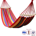 DGJEL 200 * 80cm bearing 150kg outdoor camping swing thickening large casual canvas hammock