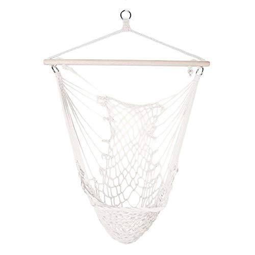 DGJEL Cotton Rope Hammock Net Swing Hanging Chairs Swing Chair Seat Garden Hammock Travel Camping Kids Adults Indoor Outdoor Cradles