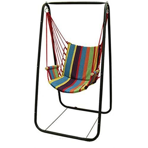 DGJEL Hanging Chair Portable Camping Garden Folding Swing Outdoor Furniture Indoors Leisure Canvas Stripe Hammock chair
