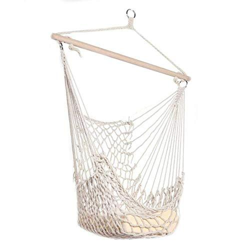DGJEL New Outdoor Mesh Cotton Rope Swing Hammock Cotton Rope Hammock Net Swing Hanging Chairs for Kids Adults